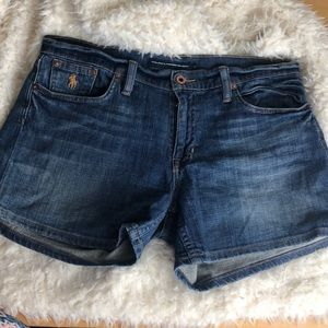 Ralph Lauren Sport blue denim shorts